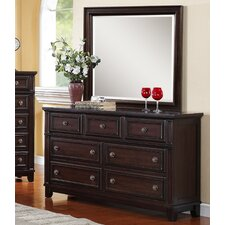 Girardville 7 Drawer Dresser with Mirror by Darby Home Co®