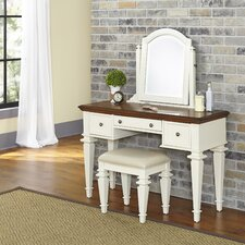 Collette Vanity Set with Mirror by August Grove®