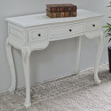 Lepore Hand Carved Wood Antique Vanity Desk by Lark Manor