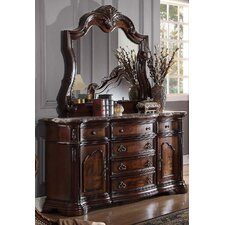 Fletcher 6 Drawer Combo Dresser with Mirror by Astoria Grand