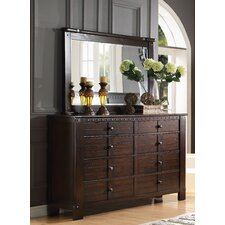 Brooklyn 8 Drawer Standard Dresser with Mirror by ACME Furniture