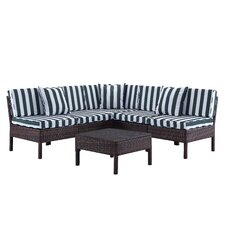 Monticello 6 Piece Sectional Seating Group with Cushion