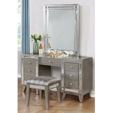 Jaqueline Vanity Set by House of Hampton