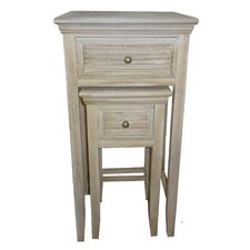 2 Piece Wood Louvered Nightstand Set by Attraction Design Home