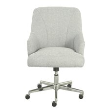 serta leighton midback desk chair - Gray Leather Office Chair