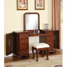 Louis Philippe Vanity Set with Mirror by A&J Homes Studio