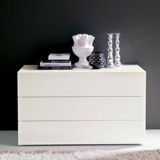 Enea 3 Drawer Nightstand by Bontempi Casa