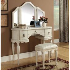 Trini Vanity Set with Mirror by A&J Homes Studio