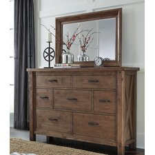 Saranac 7 Drawer Dresser with Mirror by Loon Peak®