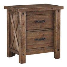 Saranac 2 Drawer Nightstand by Loon Peak®