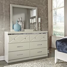 Melania 6 Drawer Dresser with Mirror by House of Hampton