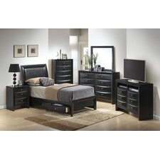 Leonis Storage Sleigh Customizable Bedroom Set by Latitude Run Best Reviews