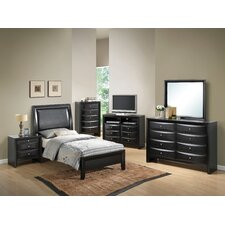 Leonis Sleigh Customizable Bedroom Set by Latitude Run