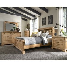 Brownwood Bookcase Panel Customizable Bedroom Set by Loon Peak®