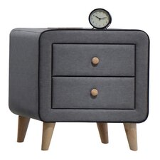 Valda Fabric 2 Drawer Nightstand by ACME Furniture