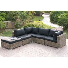 Harvey 5 Piece Patio Sectional Set II with Cushions by A&J Homes Studio