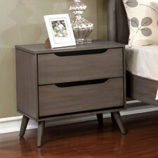 Mason Mid-Century Modern 2 Drawer Nightstand by Mercury Row®
