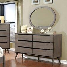 Mason 6 Drawer Dresser with Mirror by Mercury Row®