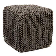 Laflin Corded Jute Cube Pouf Ottoman