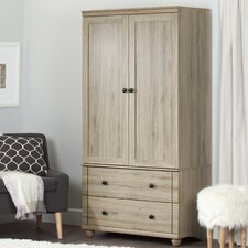 Hopedale Storage 2 Drawer Armoire by South Shore