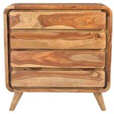 Oslo Wanderloot Mid-century Modern 4 Drawer Dresser by Porter International Designs