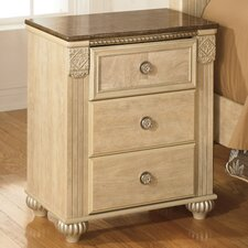 Villa San Michele 3 Drawer Nightstand by Astoria Grand