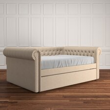 Kaminsky Button Tufted Linen Daybed by Darby Home Co®