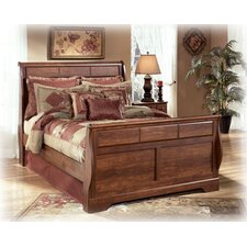 Elle Sleigh Bed Rails in Brown Cherry by August Grove®