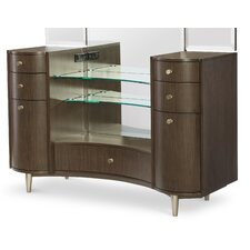 Soho by Rachael Ray Home Vanity with Tri-Fold Wall Mirror by Rachael Ray Home by Legacy Classic
