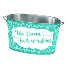 The Ocean Fixes Everything Party Beverage Tub with Insulated Cover