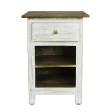 Lyon Rustic 1 Drawer Nightstand by Porthos Home
