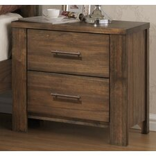 Cayuse 2 Drawer Nightstand by Loon Peak®