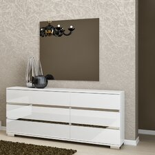 Salerno 6 Drawer Dresser with Mirror by Brayden Studio®