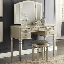 Diana Vanity Set with Mirror by Infini Furnishings