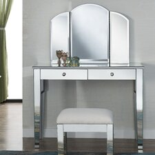 Contempo Vanity Set with Mirror by Elegant Lighting