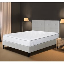 Dura Metal Faux Leather Wood Folding Platform Bed Frame by Grantec International Inc