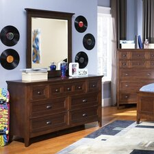 Diana 7 Drawer Dresser with Mirror by Darby Home Co®