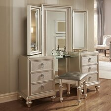Sirena Vanity Set with Mirror by House of Hampton