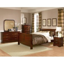 Chateau Brown Sleigh Customizable Bedroom Set by Woodhaven Hill