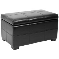 Lucas Leather Bedroom Storage Ottoman by Safavieh