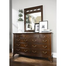 Cherry Grove New Generation Triple 9 Drawer Dresser with Mirror by American Drew