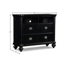 Brandy 4 Drawer Media Chest by Klaussner Furniture
