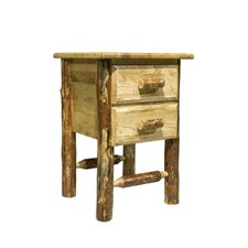 Glacier Country 2 Drawer Nightstand by Montana Woodworks®