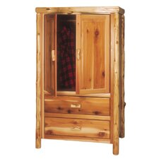 Traditional Cedar Log Armoire by Fireside Lodge