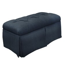 Skirted Linen Storage Bench by Skyline Furniture