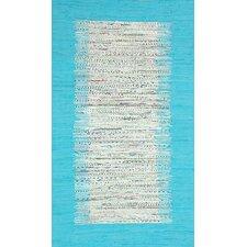 Munegu Turquoise Talia Rag Area Rug