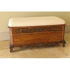 Windsor Hand Carved Storage Bedroom Bench by International Caravan