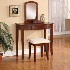 Molly Vanity Set with Mirror by Linon