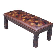 Catania Leather Entryway Bench by New World Trading