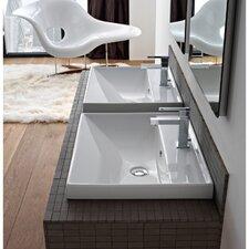 ML Ceramic Self Rimming Bathroom Sink with Overflow
